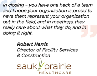 Robert Harris Sauk Prairie Healthcare Quote